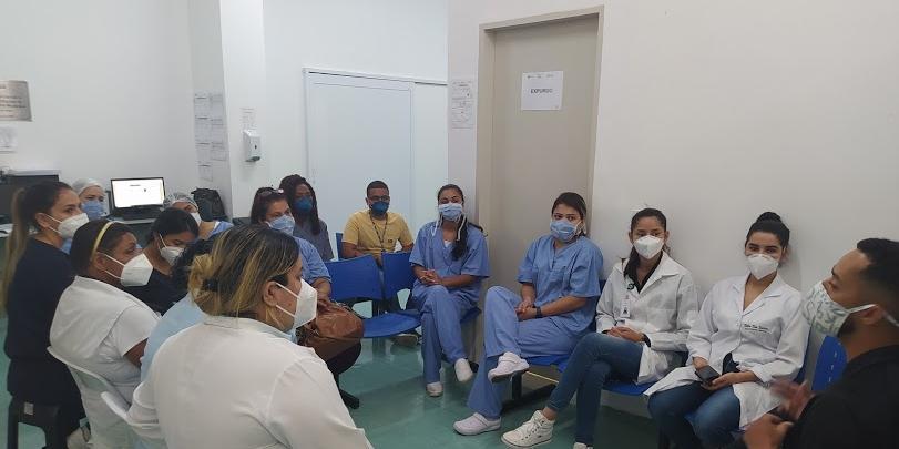 Campanha é direcionada a usuários que estejam aguardando atendimento e para colaboradores do Hospital Municipal de Bertioga (Acervo/INTS)