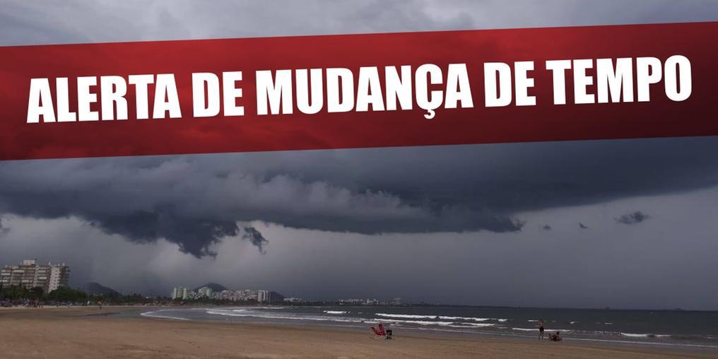 Fortes ventos, maré alta e fim de semana de chuva são previstos para o litoral e SP (Sistema Costa Norte de Comunicação)