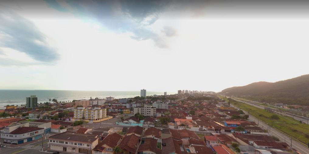 Vista áerea do bairro Solemar, onde estranho roubo ocorreu (Imagem: Eduardo Bicudo - Google Street View)