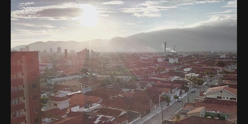 Vista aérea do bairro Maracanã, em Praia Grande (Imagem: Claudemir Fiorentino / Google Street View)