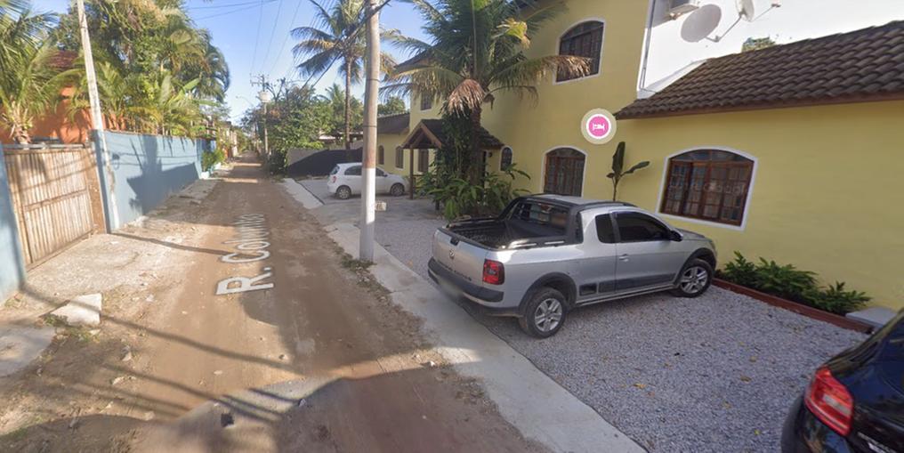 Rua Colombo, em Maresias, São Sebastião (SP) (Foto: Reprodução Google Maps)